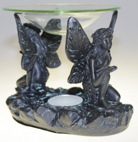 Kahe musta ingliga aroomilamp eeterlike õlide jaoks
