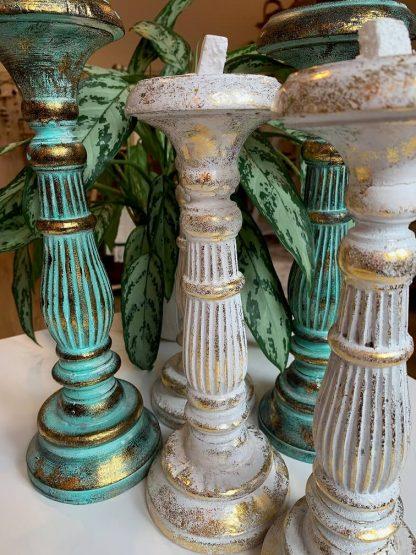 Albesia puidust küünlajalad