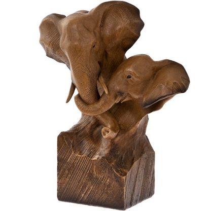 Elevantidega skulptuur - kodukaunistus