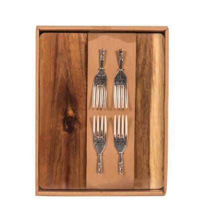 Juustualuse ja kahvlite komplekt