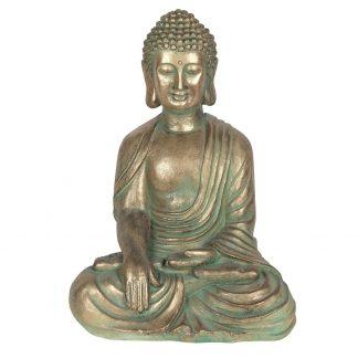 Vaserooste efektiga istuv aiabuddha