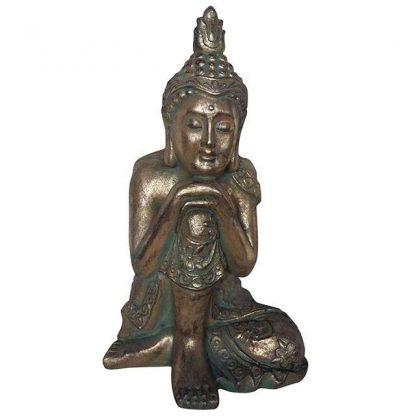 Vaserooste efektiga käed põlvel Buddha