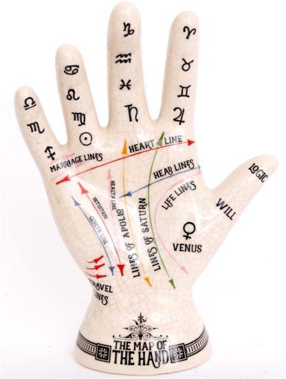 Keraamiline käsi käejoontega