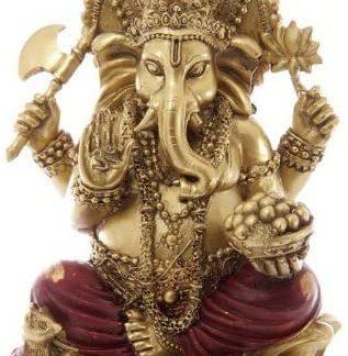 Kuldne ja punane Ganeshi kuju